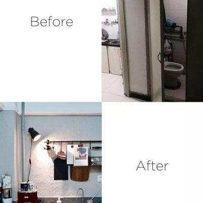她爆改25平超小户型,只留一面墙,能装下沙发、吧台、淋浴房