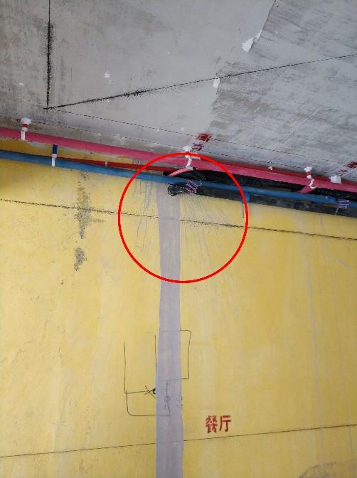 主卫生间壁挂洗衣机预留水电定位要确定.  8.