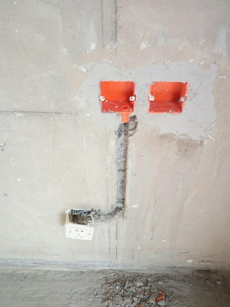 电路断点改造,验收时需要用摇表检测.